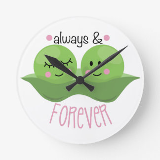 Always & Forever Round Clock