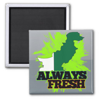 Always Fresh Pakistan Square Magnet