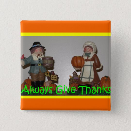 Always give thanks button