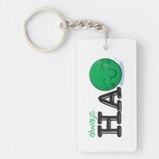 Always HaPEA Single-Sided Rectangular Acrylic Key Ring