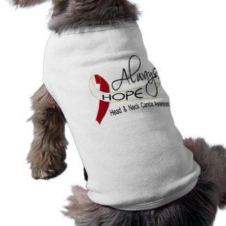 Always Hope Head Neck Cancer Pet T Shirt