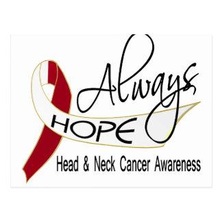 Always Hope Head Neck Cancer Postcard