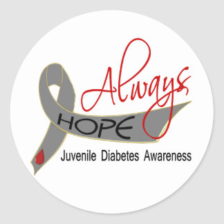 Always Hope Juvenile Diabetes Classic Round Sticker