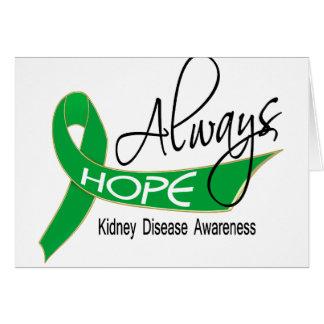 Always Hope Kidney Disease Greeting Card