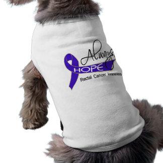 Always Hope Rectal Cancer Dog Clothing