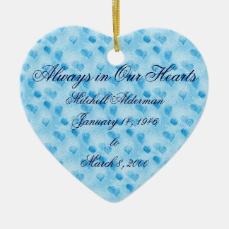 Always in Our Hearts Blue Ornament