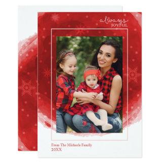 Always Joyful, Modern Holiday Photo Card