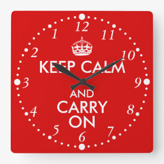 Always Late Keep Calm and Carry On Backwards Clock