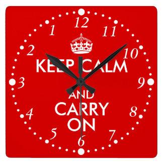 Always Late Keep Calm and Carry On Backwards Clock