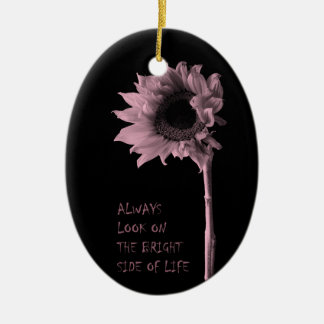 """Always Look on the Bright Side of Life"" Sunflower Christmas Ornament"