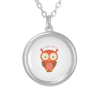 Always Love You Round Pendant Necklace