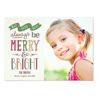 Always Merry Holiday Photo Card 13 Cm X 18 Cm Invitation Card