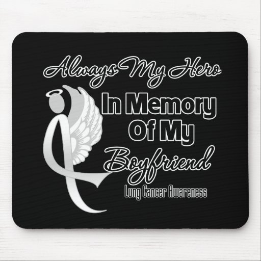 Always My Hero In Memory Boyfriend - Lung Cancer Mousepad