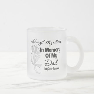 Always My Hero In Memory Dad - Lung Cancer Mug