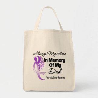 Always My Hero In Memory Dad - Pancreatic Cancer Grocery Tote Bag
