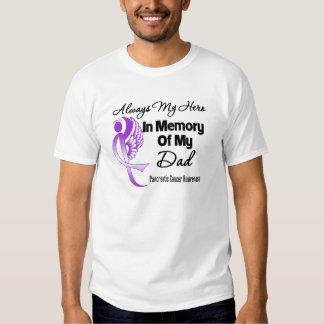 Always My Hero In Memory Dad - Pancreatic Cancer Tee Shirt