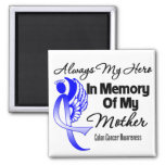 Always My Hero In Memory Mother - Colon Cancer Square Magnet