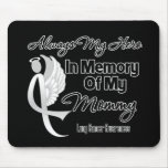Always My Hero In Memory Mummy - Lung Cancer Mousemat