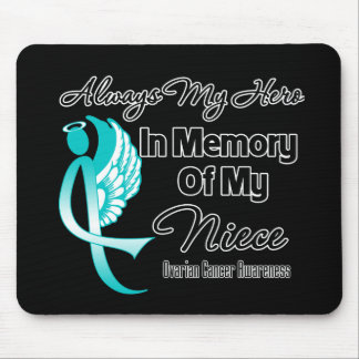 Always My Hero In Memory Niece - Ovarian Cancer Mousepad