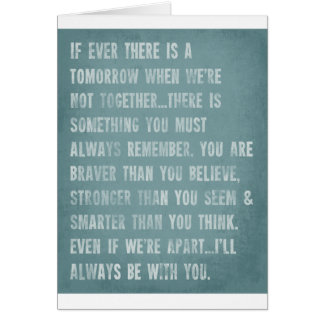 Always Remember AA Milne Quote Card