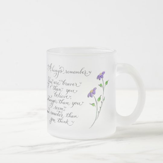 Always Remember inspirational quote typography Frosted Glass