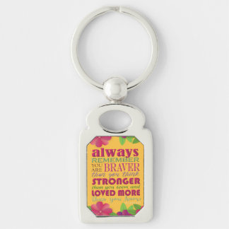 Always Remember You Are - Keychain Silver-Colored Rectangle Key Ring