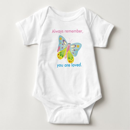 Always remember, you are loved. baby bodysuit