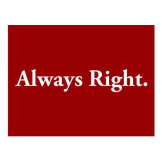 Always Right. Postcard