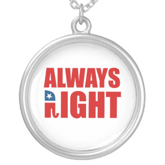 ALWAYS RIGHT ROUND PENDANT NECKLACE