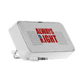 ALWAYS RIGHT TRAVELLING SPEAKERS