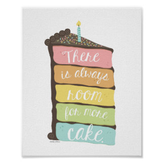 Always Room for Cake Art Print