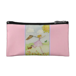 Always say yes to new adventures cosmetic bag