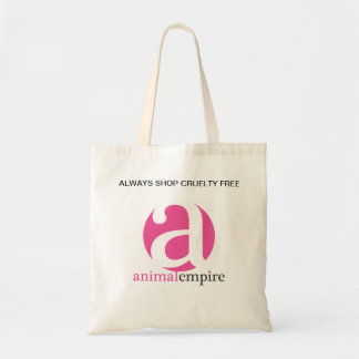 ALWAYS SHOP CRUELTY FREE BUDGET TOTE BAG