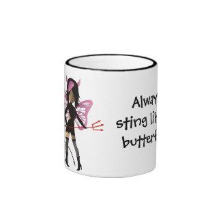 Always sting like a butterfly! ringer mug