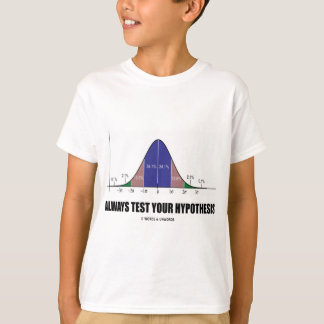 Always Test Your Hypothesis (Statistical Attitude) T-Shirt