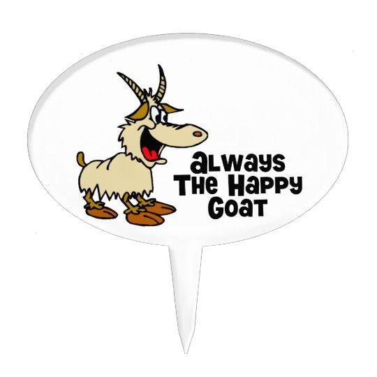 Always The Happy Goat Cake Topper | Zazzle.co.uk