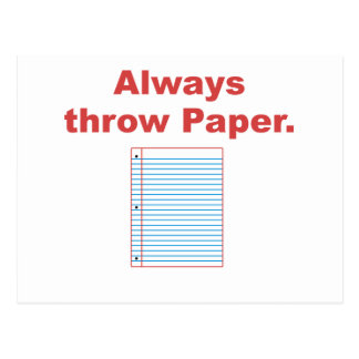Always Throw Paper Postcards