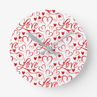 Always Time For Love (Love and Hearts) Clock