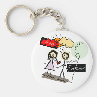 """Always Together Forever"" Fun Art Products Keychains"