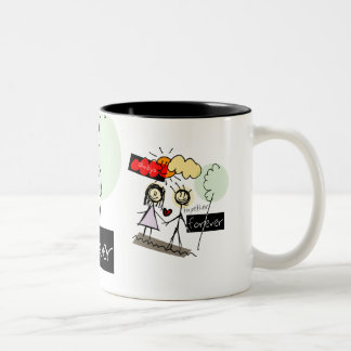 """""""Always Together Forever"""" Fun Art Products Mugs"""