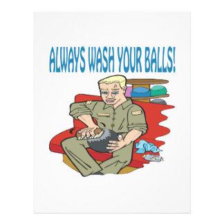 Always Wash Your Balls Flyer