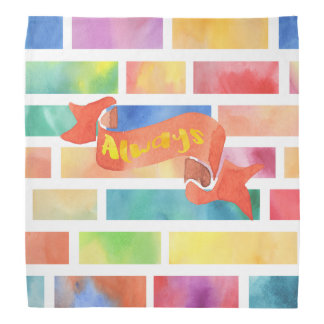 Always Watercolor Brick Pattern Bandana