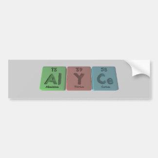 Alyce as Aluminium Ytrrium Cerium Bumper Sticker