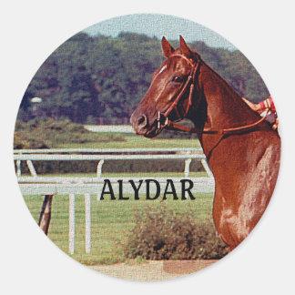 Alydar Belmont Stakes Post Parade 1978 Round Sticker