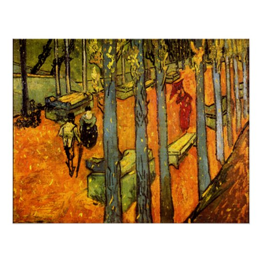 Alyscamps by Vincent Van Gogh Poster