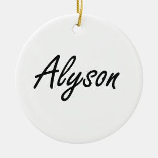 Alyson artistic Name Design Round Ceramic Decoration