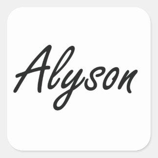 Alyson artistic Name Design Square Sticker