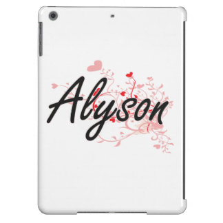 Alyson Artistic Name Design with Hearts Case For iPad Air