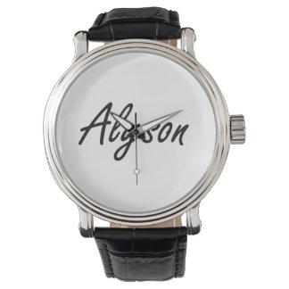 Alyson artistic Name Design Wristwatches