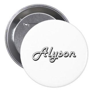 Alyson Classic Retro Name Design 7.5 Cm Round Badge